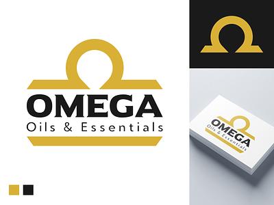 Omega - Logo Option 1 logo presentation gold logo design omega logo