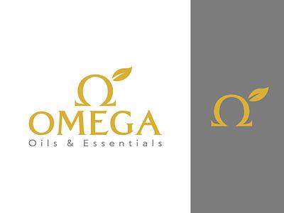 Omega - Logo Option 2 leaf symbol gold logo design logo omega