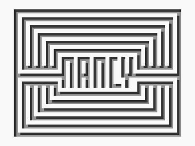 Minimalistic Maze greyscale black white minimal depth 3d name maze