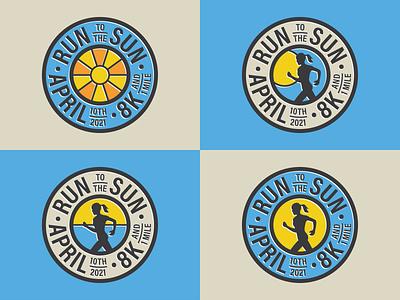 Options logo options logo design runners race sun circle colors tshirt designs logos