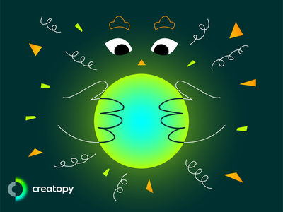 Glowing Orb - Creatopy Brand glow in the dark green neon creatopy glowing orb glowing glow
