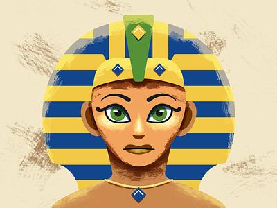 My Avatar face sphinx texture sand avatar egypt illustration design