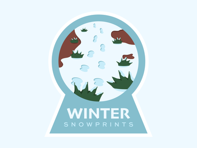 Winter Snowprints nature badge design vector illustration illustration vector snow winter badge