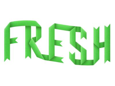 Fresh Ribbon Lettering typography green mint fresh lettering hand ribbon