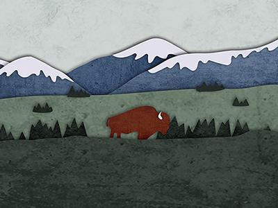 National Parks Landscape trees mountains bison yellowstone landscape parks national