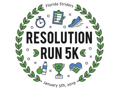 5K Event Branding laurel athletic running shoe run resolution 5k race tshirt event branding graphic  design