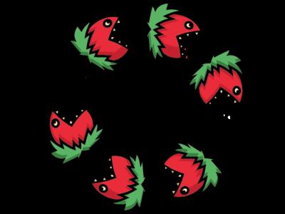 It's a Plant Eat Plant World teeth canibalism eating illustration design circle plant piranha