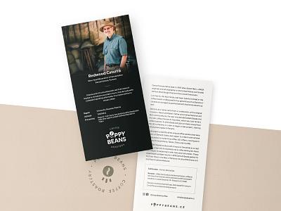 Poppy Beans – coffee flyer branding typography roastery coffee clean flyer print print design