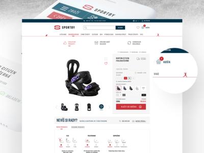 SportBy – web design detail motivation product shop sport ecommerce ux ui branding web