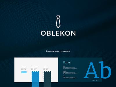 Oblekon – branding branding identity tie symbol logo designer tailor suits graphic design logotype logo