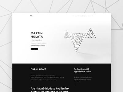 My personal web wordpress portfolio personal black white triangle clean minimalistic ux ui branding web