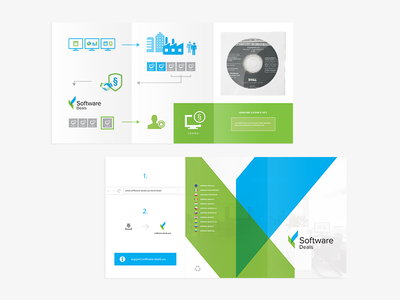 Software Deals – Trifold DVD Cover identity visual packaging infograhics case trifold cover dvd print clean branding