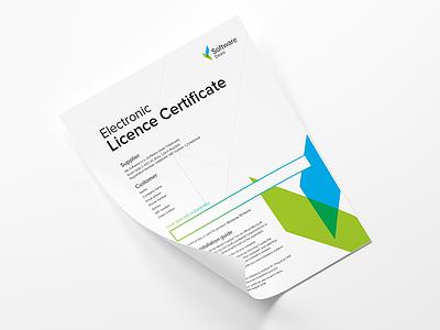 Software Deals – Licence Certificate Template identity visual template modern certificate licence a4 print clean branding