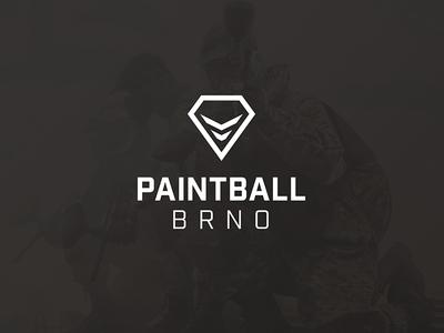 Paintball Brno – Branding vector clean logotype mark icon paintball brand logo identity branding