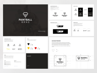 Paintball Brno – Design Guidelines manual clean logotype mark icon paintball brand logo identity design guidelines branding