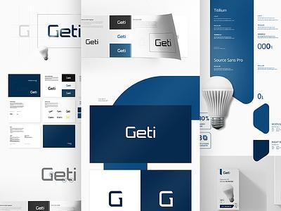 Geti – Branding #2 minimal clean blue design branding identity brand graphic design logotype logo