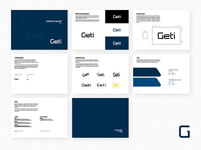Geti – Design Guidelines minimal clean blue design branding identity brand guidelines logotype logo