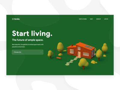 House rental landing page