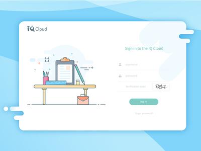 Teaching login interface illustration ui design login page invitation