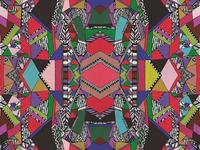 Abstract Aztec Navajo Pattern