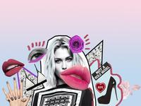 Fashion Collage for a night club