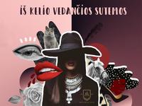 Fashion collage for night club promo