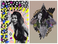 Kate Moss and Lana Del Ray Editorial Mixed Media Collage