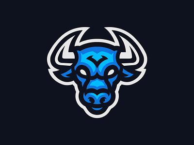Azure Bulls illustration horn ox taurus bull logo mascot