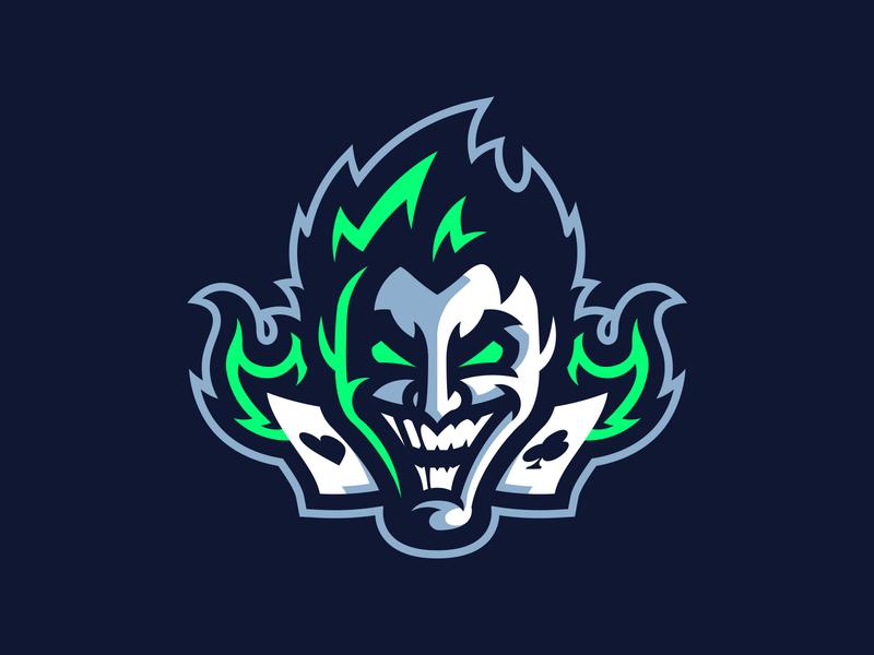 Neon Joker esport illustration gaming sport mark mascot logo joker
