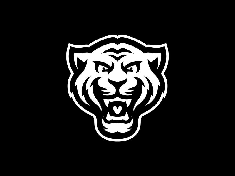 Tiger sport mark logo mascot cougar jaguar cat bengal