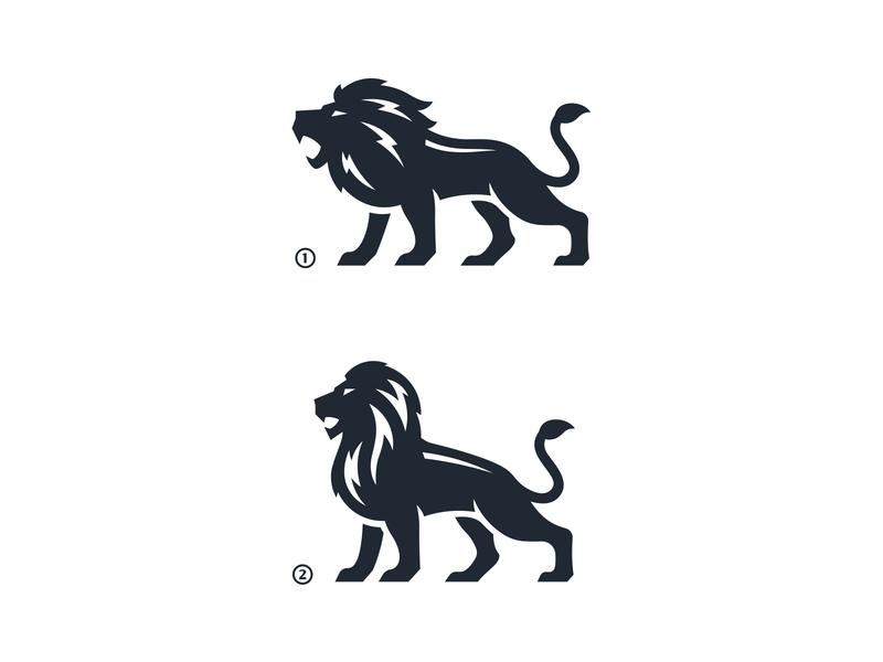 Lion mark vector icon logo tiger cat lions