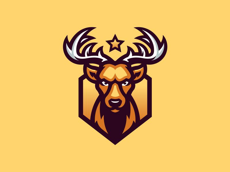 Deer sport gaming illustration deer mascot logo