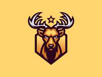 Deer sport gaming illustration deer mascot logo