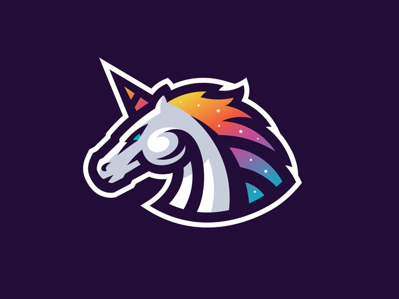 Unicorn illustration mark sport mascot logo stallion horse