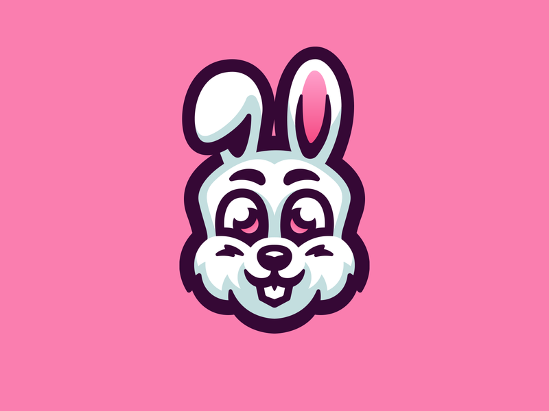 Bunny illustration logo mascot chibi cute animals cute rabbit bunny
