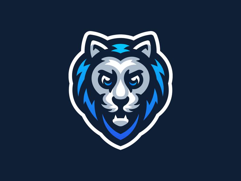 Lion mark sport mascot logo illustration mascot logo panther