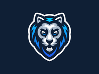 Lion mark sport mascot logo illustration mascot logo panther