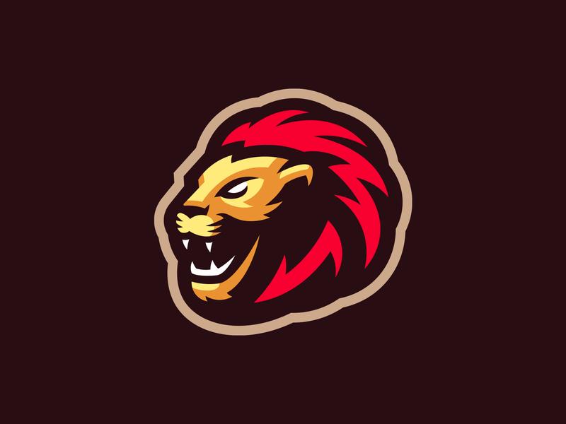 Lion cougar panther tiger lion mascot logo