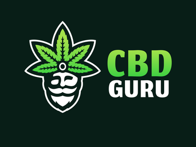 Guru branding illustration mascot logo guru cbd cannabis