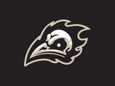 Bird Skull crow raven demon mark illustration logo mascot skull bird