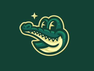 Crocky illustration logo mascot lizard alligator crocodile
