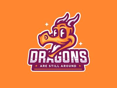 Dragon sport illustration logo mascot