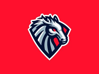 Stallion mark sport mustang stallion horse mascot logo