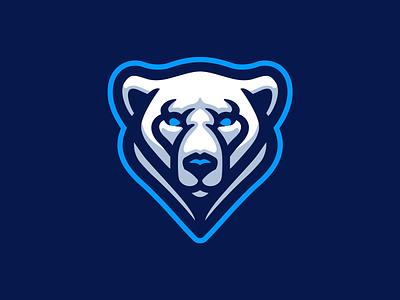 Polar Bear illustration mascot logo white snow white bear bear polar bear
