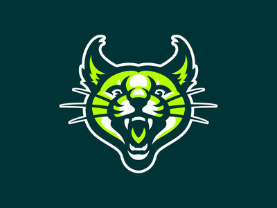 Caracal sport illustration logo mascot tiger lion cat bobcat wildcat lynx caracal