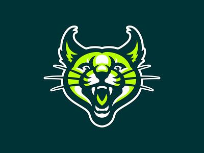 Caracal sport illustration logo mascot tiger lion cat bobcat wildcat lynx caracal