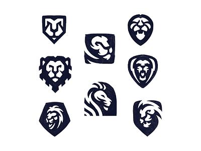 Lion Sketches sketch sketches mascot cat exploration lion mark logo