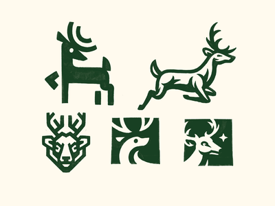 Deer Sketches nature wild mascot mark exploration logo