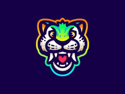 Chunky logo mascot wildcat lion thecroods croods tiger sabertooth cat