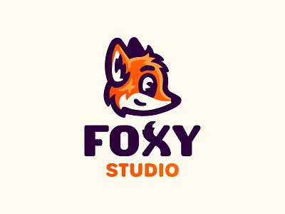 Fox illustration mascot cute vixen logo